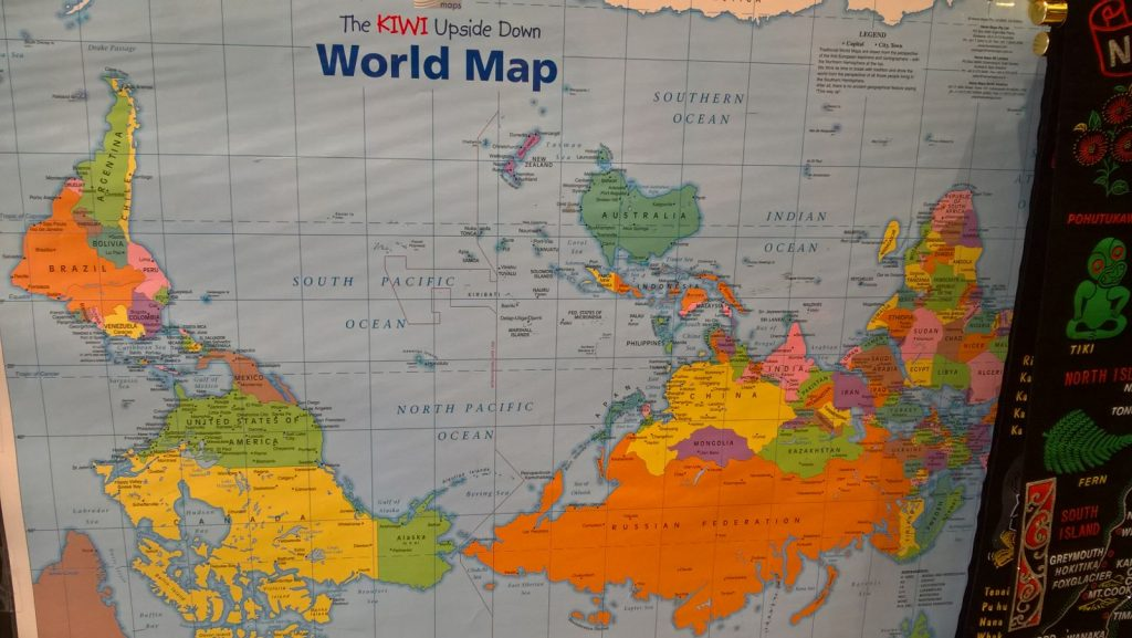 Up-Side-Down World Map